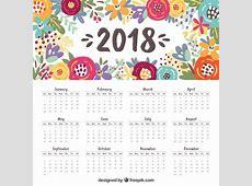 Beautiful 2018 calendar Vector Free Download