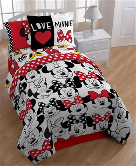 "Disney's Minnie Mouse ""Who"" Twin/Full Comforter Set Bed in a Bag Bed & Bath Macy's"