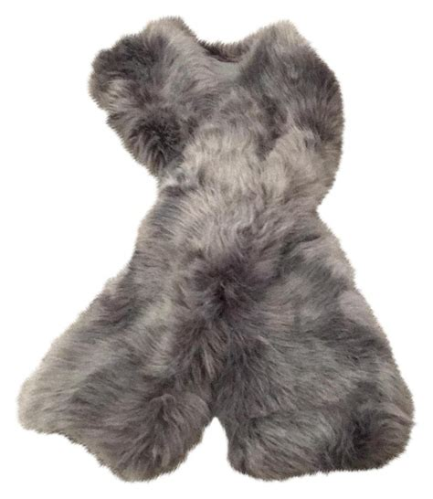 restoration hardware faux fur restoration hardware silver grey faux fur scarf wrap tradesy 4791