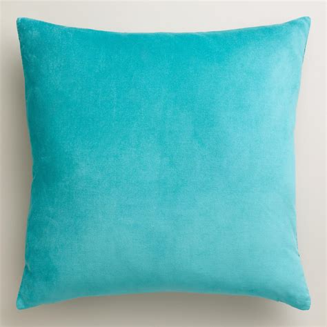 aqua throw pillows aqua velvet throw pillows world market