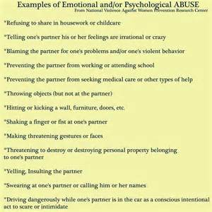 Signs of Emotional Abuse Quotes