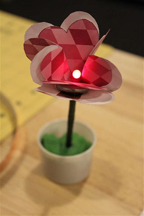 led paper flower instructables bigdiyideascom