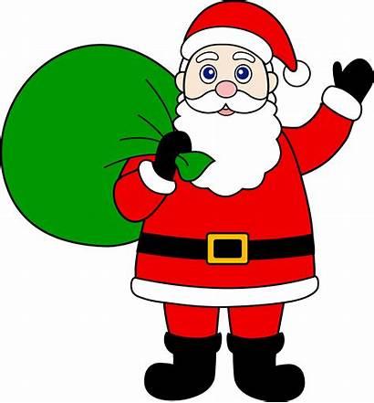 Santa Claus Clip Sack Gifts Clipart Christmas