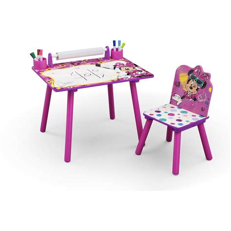 Kids Art Desk Chair Play Drawing Disney Minnie Mouse