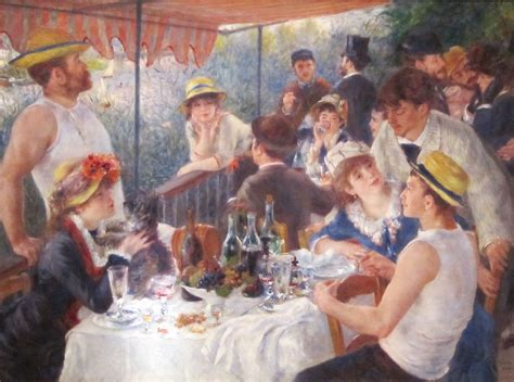 Pierre Auguste Renoir Boating Party by Luncheon Of The Boating Party By Pierre Auguste Renoir