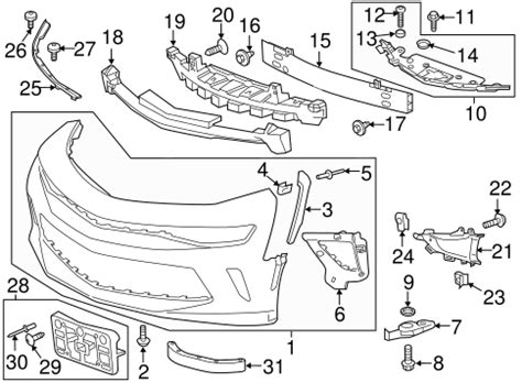 05 Corvette Part Diagram by Help With Part Number For Front Bumper Air Deflector Camaro6