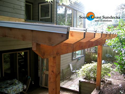 wood rafter  glass canopy sundeck cover pictures