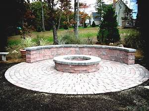 River Rock Fire Pit Ideas Makeshift Cheap Outdoor