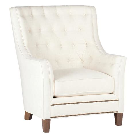 welch modern classic tufted ivory linen arm chair kathy