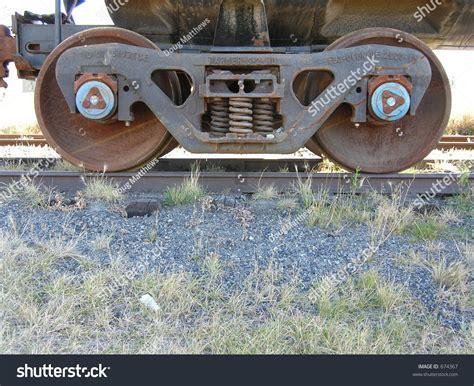 Train Car Wheels Stock Photo 674367