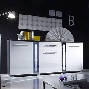 Kommode Grau Hochglanz : sideboard mirror kommode wei hochglanz grau inkl led ~ Frokenaadalensverden.com Haus und Dekorationen