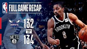 FULL GAME RECAP: HORNETS VS NETS | DOUBLE OVERTIME ...