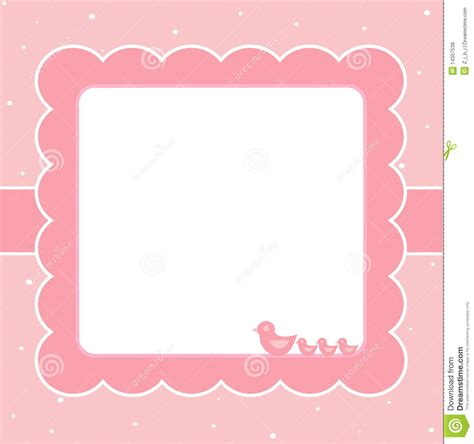 pink baby card stock vector image  born message