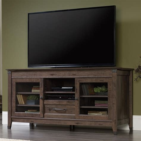 Entertainment Credenzas by Sauder Carson Forge 419083 Rustic Style Entertainment