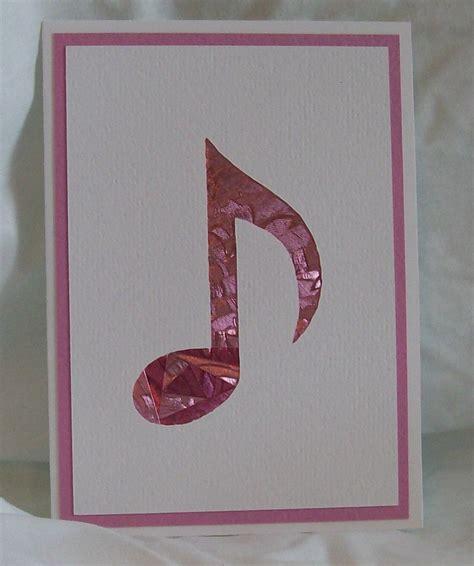 iris folded musical note card housses de portables