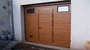 vente porte de garage sectionnelle avec portillon portes With porte de garage avec porte pieton
