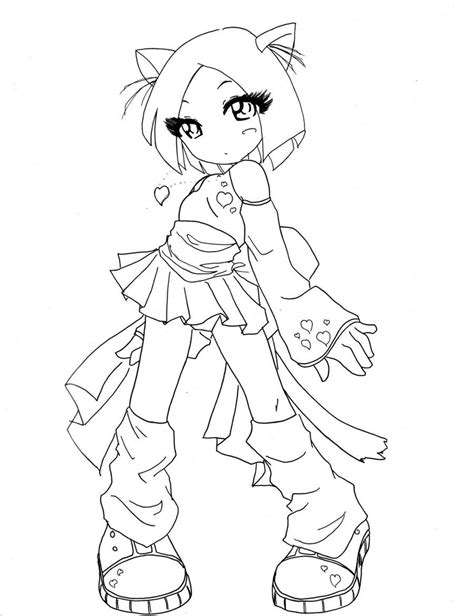 anime fox girl cute coloring pages coloring home
