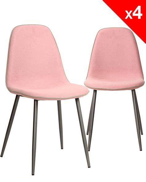 tissu chaise chaises design tissu et métal lot de 4 184 9