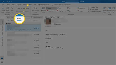outlook thread mail conversation messages conversations grouped current tab start go checked sure area only folder upscale