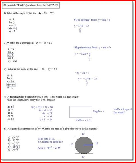 Sat Math Practice Printable Tests  Sat Math Practice Printable Worksheets Training Mathsphere