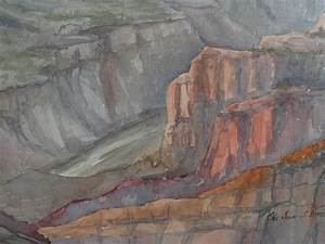 original, contemporary, signed, grand, canyon, large, watercolor