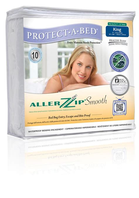 Protect A Bed Allerzip by Protect A Bed Allerzip Waterproof Smooth Mattress