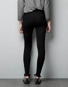 Zara Leggings with Zip Pockets in Black | Lyst