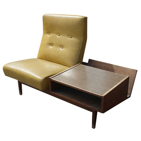 mid century modern lounge chair with side table