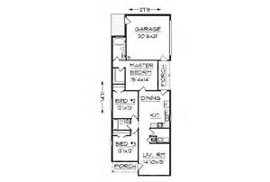 narrow house plans with garage house plan j1405