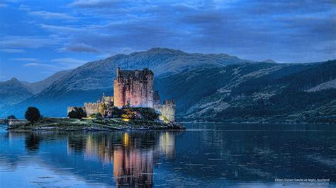 Webshots - Eileen Donan Castle at Night, Scotland