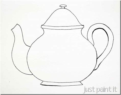 teapot cups pattern templates  painting embroidery