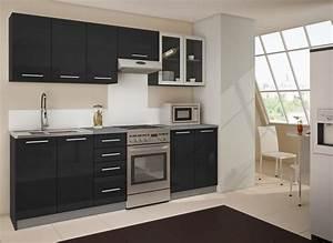 Cuisine Équipée Noir : s0lde design cuisine quip e modern de luxe ~ Melissatoandfro.com Idées de Décoration