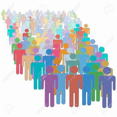 Population Clipart Increase Growth Viele Menschen Menschenmenge