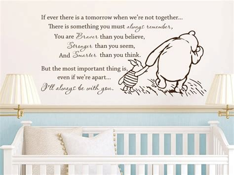 shipping winnie  pooh vinyl wall stickers      tomorrow baby quote wall