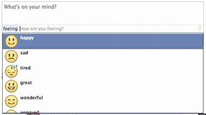 Facebook Adds Emoticon Option To Status Updates   HuffPost