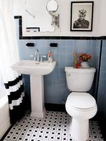 Bathroom Ideas Vintage 35 Vintage Black And White Bathroom Tile Ideas And Pictures