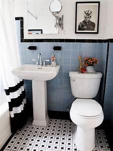 35 vintage black and white bathroom tile ideas and pictures With black and white tile bathroom decorating ideas