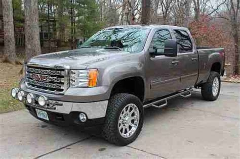 car engine manuals 2012 gmc sierra 2500 on board diagnostic system purchase used 2012 gmc sierra 2500 hd crew short bed 4x4 slt duramax lifted new wheels tires in