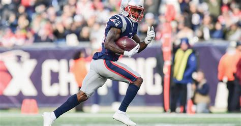 patriots wide receiver brandin cooks hits  yard mark