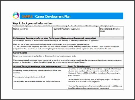 individual career development plan template
