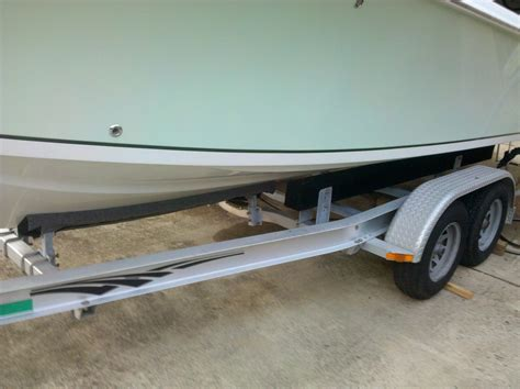 Convert A Boat Trailer To Pontoon Trailer by New To Me Boat Trailer Setup Correctly The Hull