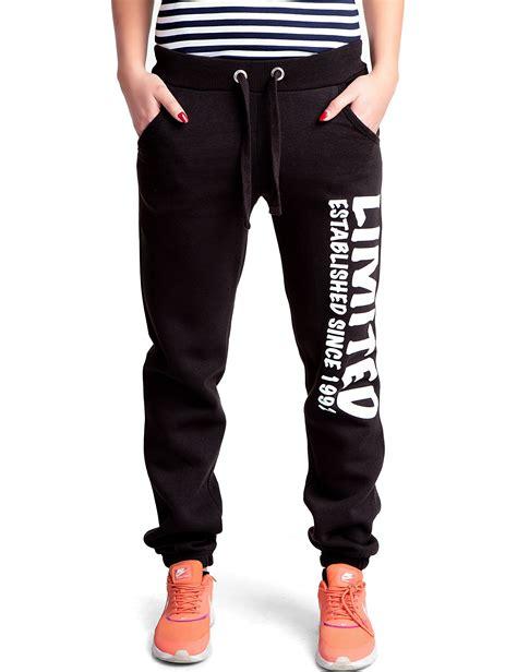 fitness klamotten damen damen limited sporthose in schwarz 24brands fitness damen sweatpants fashion und