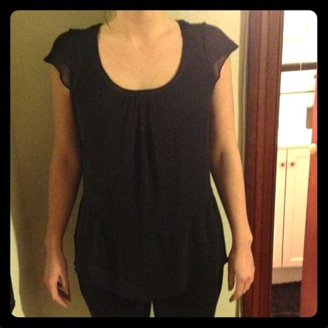 Express Tops | Loose Fitting Sheer Black Blouse | Poshmark