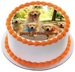 dog cake toppers golden retriever dog puppy edible cake topper cupcake