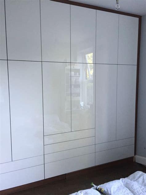 High Gloss White Acrylic Doors On Walnut Carcass Diy