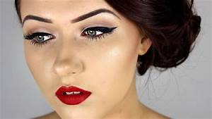 Pin Up Inspired Make Up Tutorial ♥ - YouTube