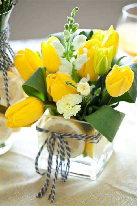 yellow flower arrangements ideas  pinterest