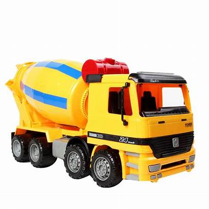 Cement Truck Toy Friction Powered 2x Inertia