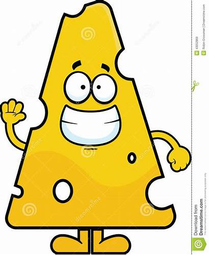Cheese Cartoon Swiss Smiling Clip Waving Vector