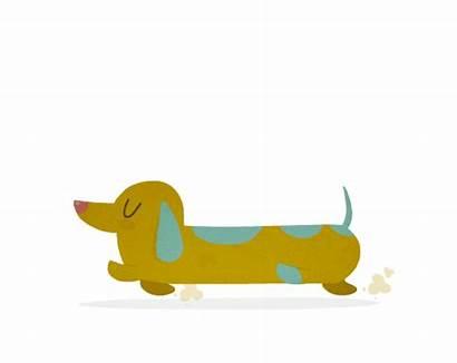 Dachshund Dog Cartoon Cartoons Gifs Weiner Hop